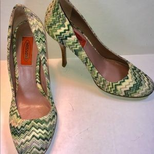 NEW! AUTHENTIC! Missoni Chevron Heel Pumps 38